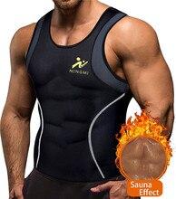NINGMI Sports Mens Camisa de Emagrecimento Colete Calças De Fitness Trainer Cintura Shapers Do Corpo Perda de Peso Sauna Neoprene Respirável Parte Superior Do Tanque