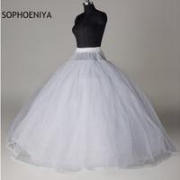 New Arrival White 8 Layer Tulle Petticoat Wedding accessories vestido branco underskirt jupon mariage petticoat woman