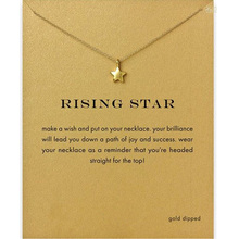 Fashion Star Necklace Women Pendant Clavicle Chain Statement Choker Necklaces Rising Gift Card Collares Valentines Day