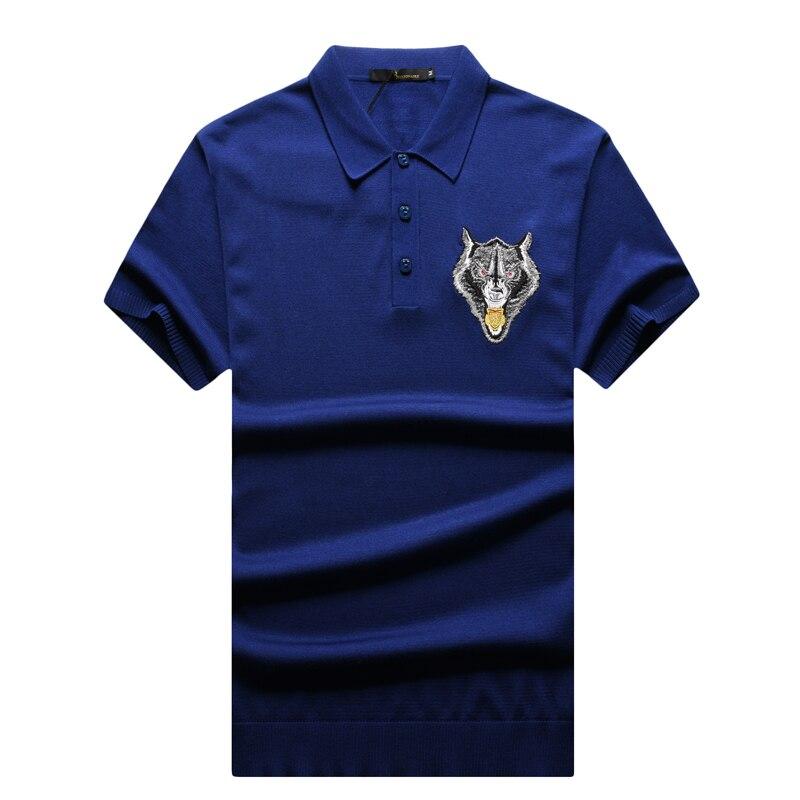 T shirt uomo couture italiana miliardario 2017 lancio summer fashion comfort ricamato progettato gentleman spedizione gratuita-in Magliette da Abbigliamento da uomo su  Gruppo 2