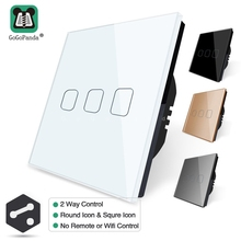 EU 1 Gang 2 Way  Wall Light Controler Smart Home Automation Touch Switch Waterproof and Fireproof 3