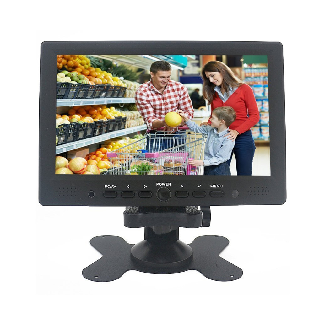 Wearson 7 inch Mini LCD Monitor Video Display Screen HDMI/VGA/AV Input for Computer PC Camera CCTV Raspberry pi with Ir Remote lilliput tm 1018 o p 10 1 led ips full hd hdmi field touch screen camera monitor with hdmi input