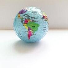 جديد وصول كرات الجولف خريطة العالم اللون كرات الجولف 2 قطعة/الوحدة ممارسة هدية ألعاب الغولف كرات مع خريطة العالم فريدة من نوعها كرات الجولف الجغرافية