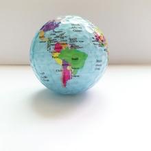 Neue Ankunft Golf bälle Globus Karte Farbe Golf Bälle 2 teile/los Praxis Golf Geschenk Bälle Mit Welt Karte Einzigartigen Geographischen golf Bälle