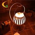 Lâmpada de cristal de sal do himalaia lâmpada quarto ferro forjado criativo lam Livro Luzes lâmpada Olho pequeno candeeiro de mesa 110 V-220 V e17