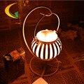 Sal del himalaya lámpara de cristal dormitorio de la lámpara creativa pequeña lámpara de mesa de hierro forjado lam Libro Luces Ojo de la lámpara 110 V-220 V e17