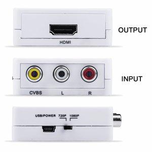 Image 5 - HFES RCA To HDMI Mini 1080P RCAคอมโพสิตCVBS AV HDMI Video Audio ConverterสนับสนุนPAL, NTSC3.58, NTSC4.43, S
