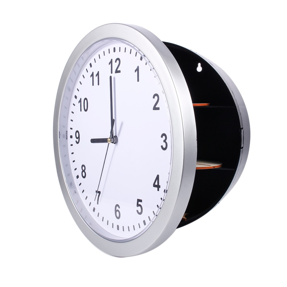 New arrival wall clock silver living room decor cash hide new arrival wall clock silver living room decor cash hide valuables jewelry in alarm clocks from home garden on aliexpress alibaba group amipublicfo Images