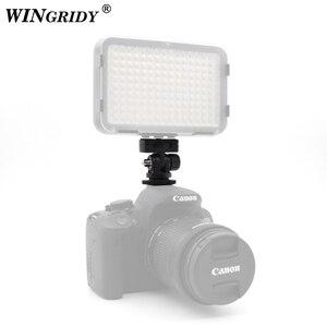 "Image 5 - WINGRIDY Profession 1/4"" Screw Hot Shoe Mount Adapter Adjustable Angle Pole For DSLR Camera Canon Nikon Flash LED Light Monitor"