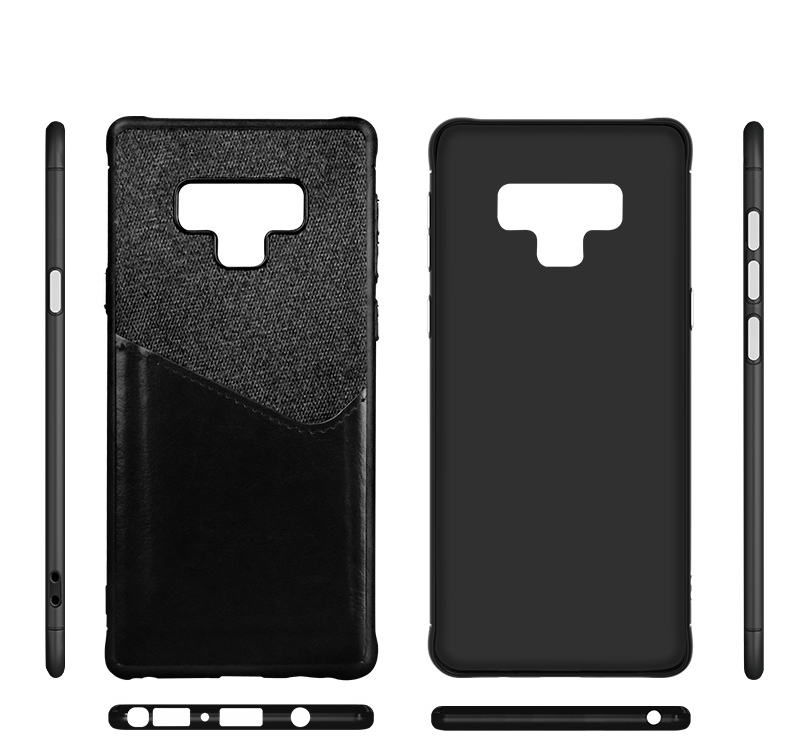 Luxury Business Cloth+leather Wallet Case for samsung note 9 8 with Card Pocket Cover for samsung galaxy S8 S9 Plus case Coque   (8)