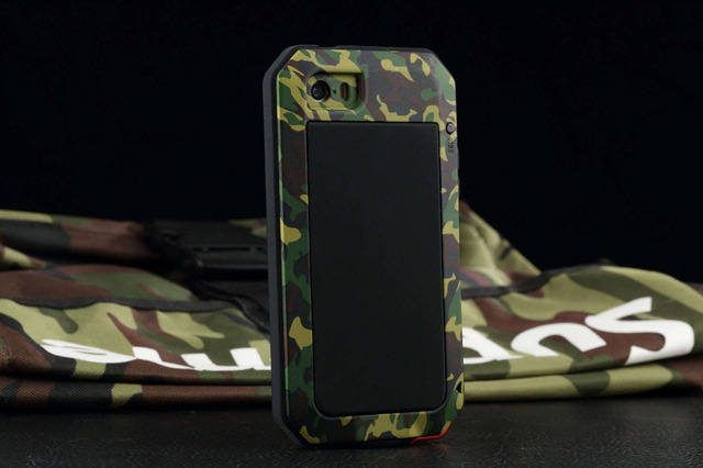 best service e120d 3ae9a US $17.09 10% OFF|Aliexpress.com : Buy New Camouflage Luxury 6s Plus  Shockproof Waterproof Case For iphone 6 plus Heavy Duty Armor Aluminum  Metal ...