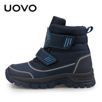 UOVO 2018 Autumn Winter New Boy Boots Children Winter Boots Fashion Martin Shoes Big Kids Snow Boots Sporty Black Blue Eu 26 39