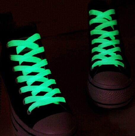 1 Paar 100 Cm Leuchtstoff Schnürsenkel Leuchtende Schnürsenkel Glow In The Dark Schnürsenkel Fluoreszierende Athletisch Sport Flache Schnürsenkel