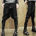 Прохладный мужские узкие брюки малоэтажных руслана коршунова шаровары промежности брюки большие мешковатые джинсы Saggy брюки мужские повседневная одежда