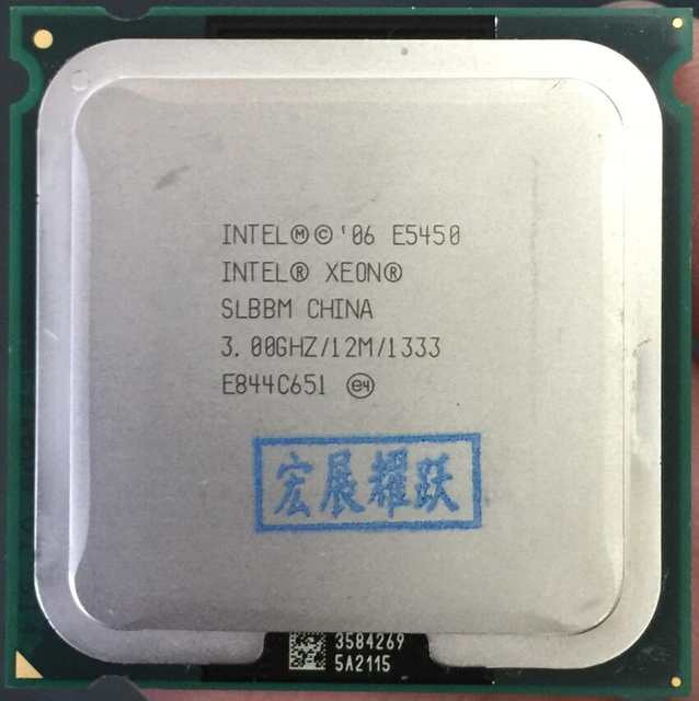 US $14 8  Intel Xeon E5450 SLBBM Quad Core Processor close to LGA775 CPU,  works on LGA 775 mainboard no need adapter-in CPUs from Computer & Office  on
