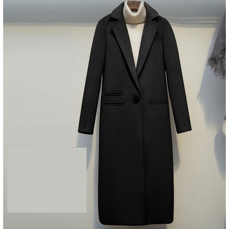 YAGENZ 2019 kobiety wełniane kurtki zima nowa moda szczupła Temperament długie płaszcze jednolity na co dzień ciepły płaszcz damski czarny wielbłąd w Wełna i mieszanki od Odzież damska na  Grupa 2