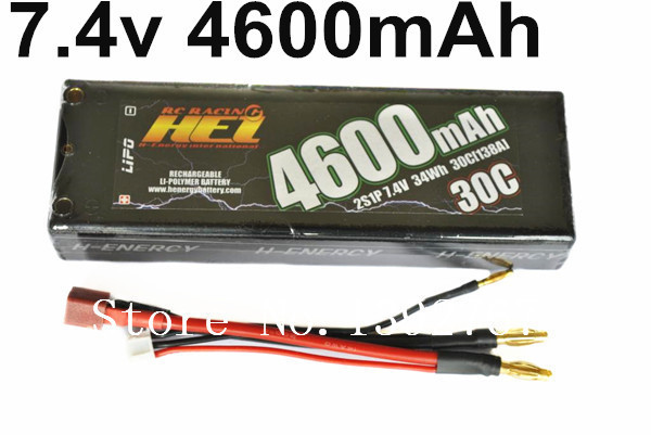 HEI 7.4V 2S1P 4600mAh 30C 138A 34Wh H-Energy Lipo Battery RC Racing Batteries For 1/10 1/8 R/C Drifting Truck Crawler Car Boat