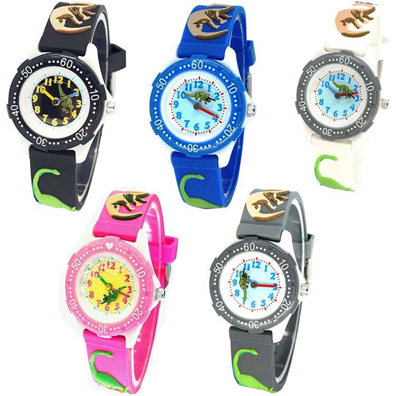 New Waterproof Kid Watch Children 3D Cartoon Baby Dinosaur Silicone Design Wristwatch Brand Fashion Casual Relogio Clock Watch