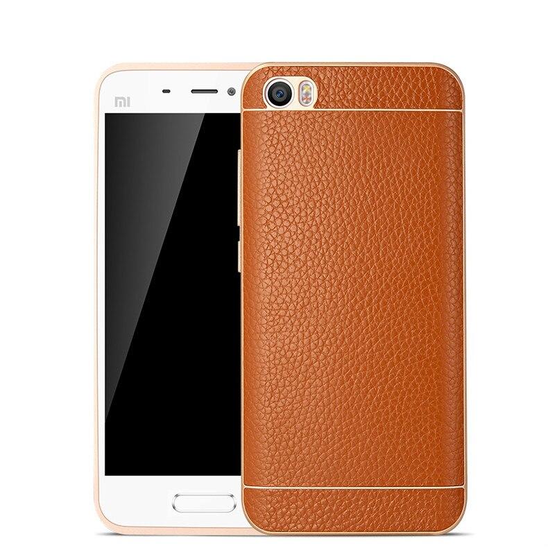 imágenes para Para el Caso de Xiaomi mi5 metal touch caso de cuero Para xiaomi mi 5 Caso Del Tirón Del mi5 Noble Cubierta Posterior Para Xiaomi M 5 M5