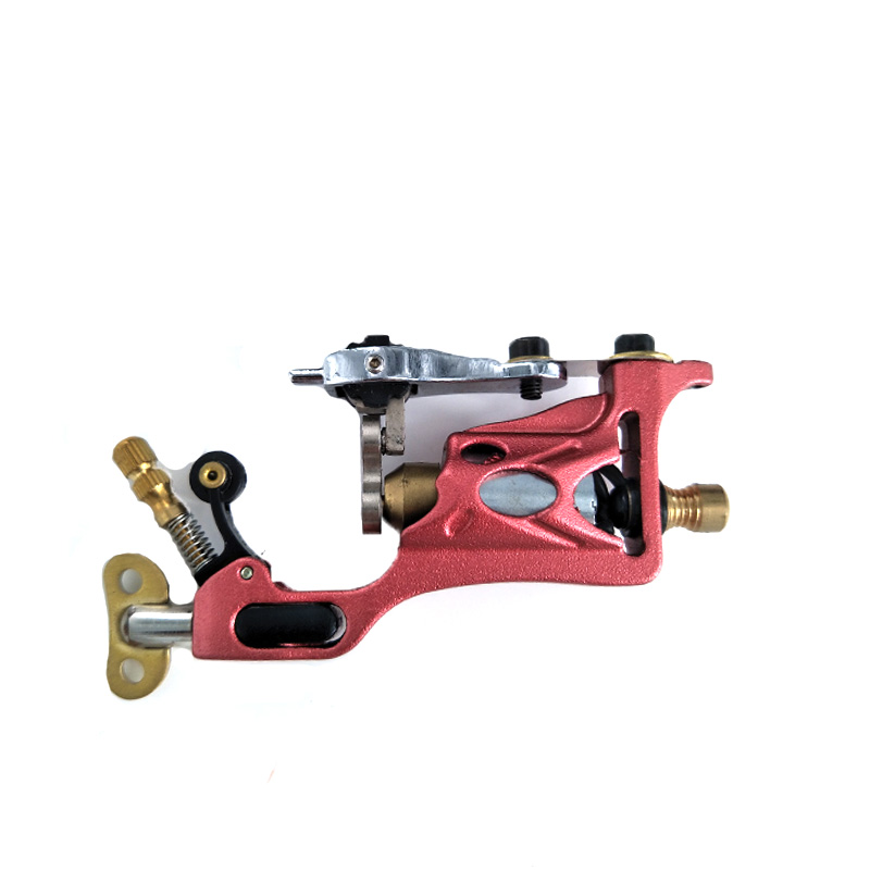 Professional Red Rotary Tattoo Machine for Shader and Liner High Quality Tattoo Gun Quiet Strong Power Body Art Tattoo Supply professional tattoo kits liner and shader machines immortal ink needles sets power supply