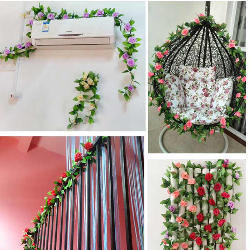 92 flowers decoration for home flower home decor custom with wholesale 245cm fake silk roses ivy vine artificial flowers with junglespirit Image collections