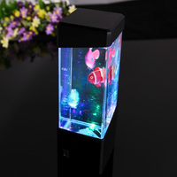 Novelty LED 4 Loại Đầy Màu Sắc Di Chuyển Sứa Hồ Cá Văn Phòng Nhà Fish Tank Ánh Sáng Ban Đêm Bàn Bảng Đèn Phòng Trang Trí Trẻ Em đèn
