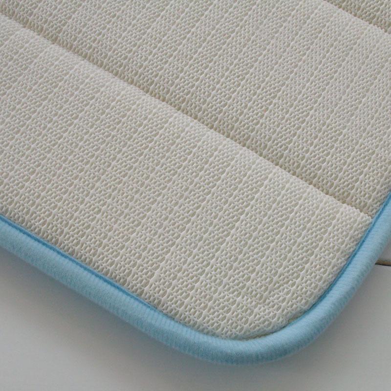 Memory Foam Anti-Skid Bath Mat,Super Soft Coral Velvet Bathroom Rugs