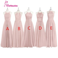 Long Bridesmaid Dress Chiffon Pleated A Line Robe Demoiselle D Honneur Alibaba China Online Shop Cheap