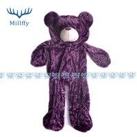 2017 새로운 품질 1 개 160 센치메터 봉제 곰 스킨 쉘 보라색 곰 봉제 장난감 피부 unstuffed 봉제 동물 스킨 도매