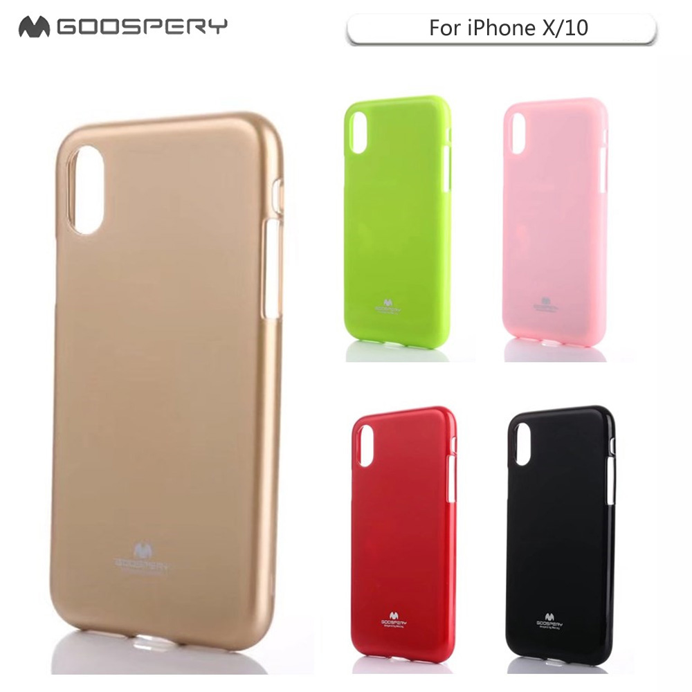 Original For Iphone X Xs Case Mercury Goospery Flash Powder Jelly Pearl All Type Special  Red Gel Soft Tpu Back Phone 10 Xr Max Coque In Half Wrapped From