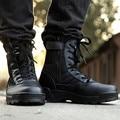 Горячие Продать Ретро Борьбе Сапоги Зима Англия-стиль Модные мужские Короткие Черные Ботинки Военные Сапоги