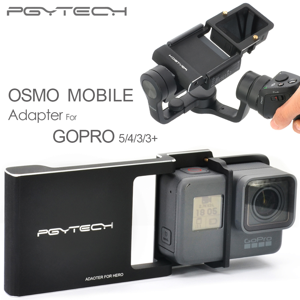 PGY Adapter for DJI osmo Gopro Hero 5 4 3 3+ accessories switch mount plate mobile gimbal Camera handheld phone drone parts