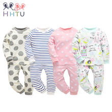 HHTU 2017 New Infant Baby Girl/boys Sleep Clothing Set Children Cute Cartoon Pajamas Suit Newborn Kids Soft Cotton Underwear