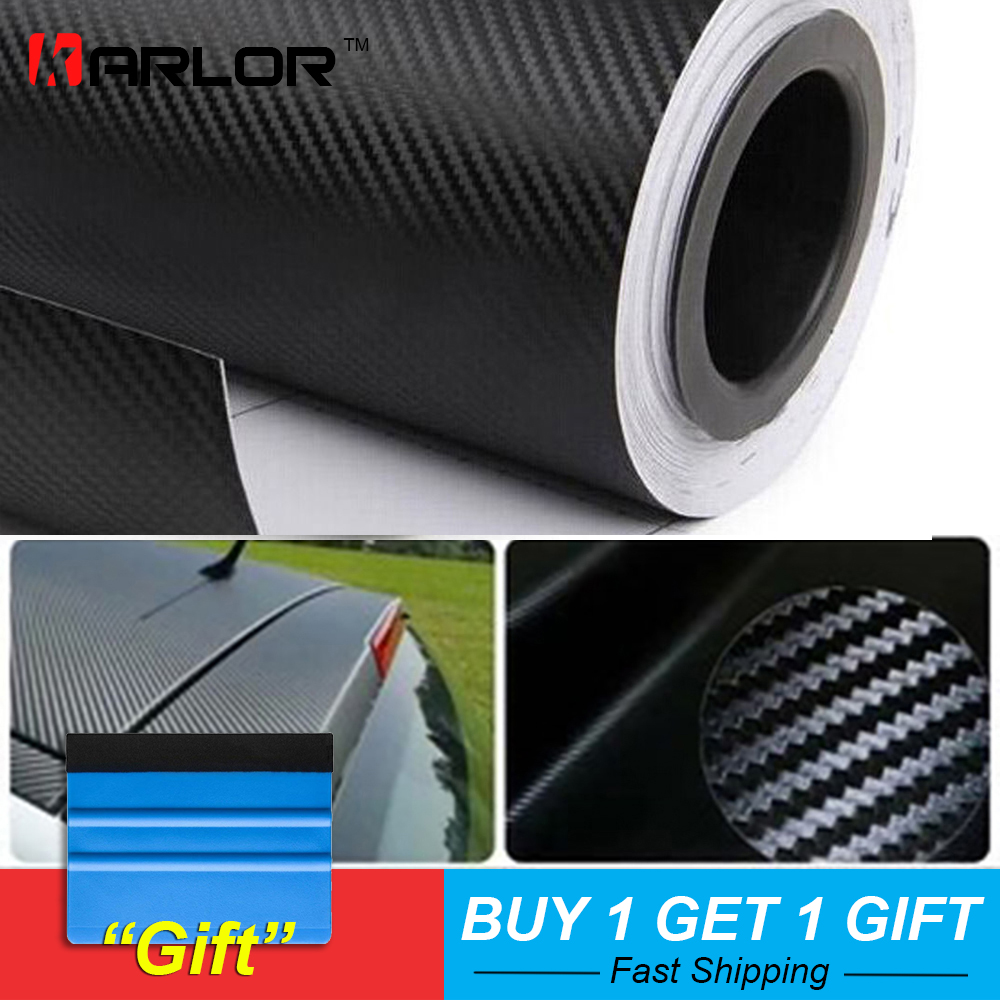 500cmx60cm Waterproof DIY Motorcycle Sticker Car Styling 3D Car Carbon Fiber Vinyl Wrap Roll Film Car Accessories Decal Film