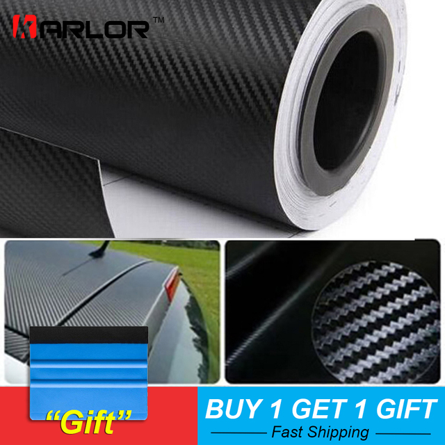 500cmx60cm Waterproof DIY Motorcycle Sticker Car Styling 3D Car Carbon Fiber Vinyl Wrap Roll Film Car