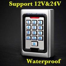 バックライトキーパッド金属アクセス 2000 ユーザー 125 125khz の rfid のアクセス制御システム屋外使用 9 に 28 ウィーガンド 26 ビット高速スピード
