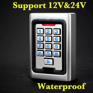 Image 1 - الخلفية لوحة المفاتيح المعادن الوصول 2000 المستخدمين 125khz التحكم في الوصول إلى RFID نظام في الهواء الطلق استخدام 9 إلى 28 يجاند 26 بت سريع سرعة