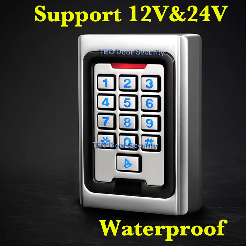 Backlight Keypad  Metal Access 2000 Users 125khz  RFID Access Control System Outdoor Use 9 to 28 Wiegand 26 bit Fast Speed metal rfid em card reader ip68 waterproof metal standalone door lock access control system with keypad 2000 card users capacity