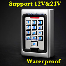 Backligh Metal Keypad Access 2000 Users 125khz  RFID Access Control System