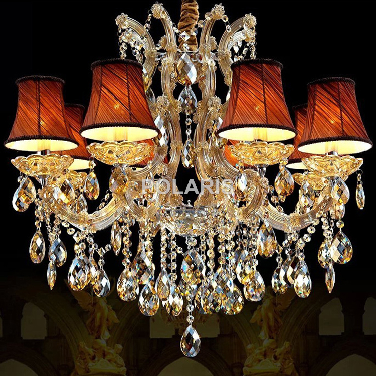 ФОТО Classic Candle Chandelier Luxury Suspended Maria Theresa Crystal Chandeliers Wedding Hanging Lamps Light Lighting
