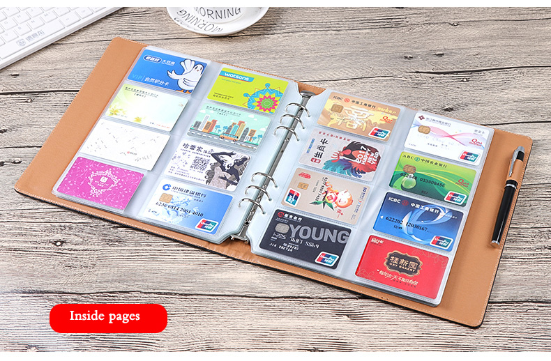 Post card stock Credit holder Business book ID card/passport/SD leather/pvc/Loose-leaf design gift