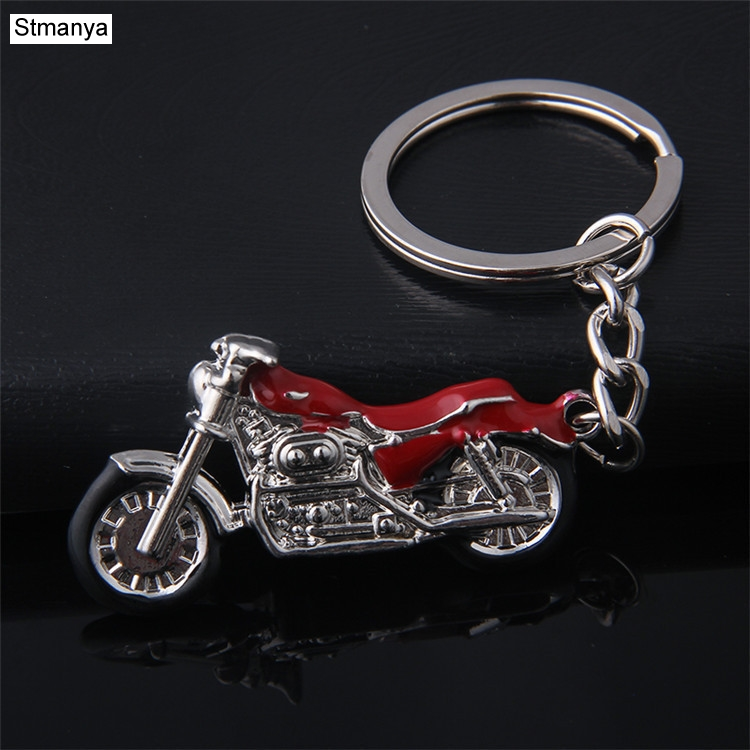 Mountain Motorcycle Pendants Key Chain creative model Car Key Holder color metal Bag Charm Accessories 3D crafts Keychain K1729 high grade metal creative car key chain