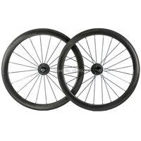 Rodas De Carbono chinesas 50mm Profundidade 25mm Largura Superfície Covinha Carbono Wheeset Para T700 Fibra De Carbono Total de Bicicleta de Estrada
