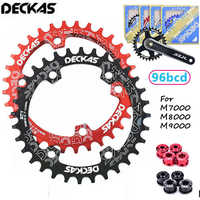 DECKAS 96BCD Mountainbike Kettenblatt 32 T 34 T 36 T 38 T MTB fahrrad Kette Ring Runde Oval Kettenblatt fit SHIMANO XTR XT SLX