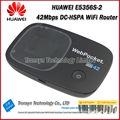 Free Shipping New Arrival Original DC-HSPA+ 42Mbps Unlock HUAWEI E5356 Pocket 3G WiFi Router Support 900 2100MHz