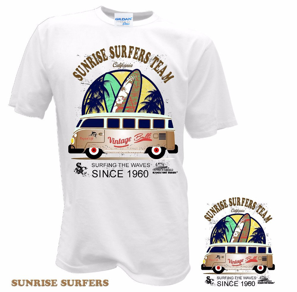 2019 Newest Letter Print Men Print Tee Cool Fashion Novelty Style T Shirt Surfer Bus Surfings Retro Samba T1 T2 T3 Auto Car Tee