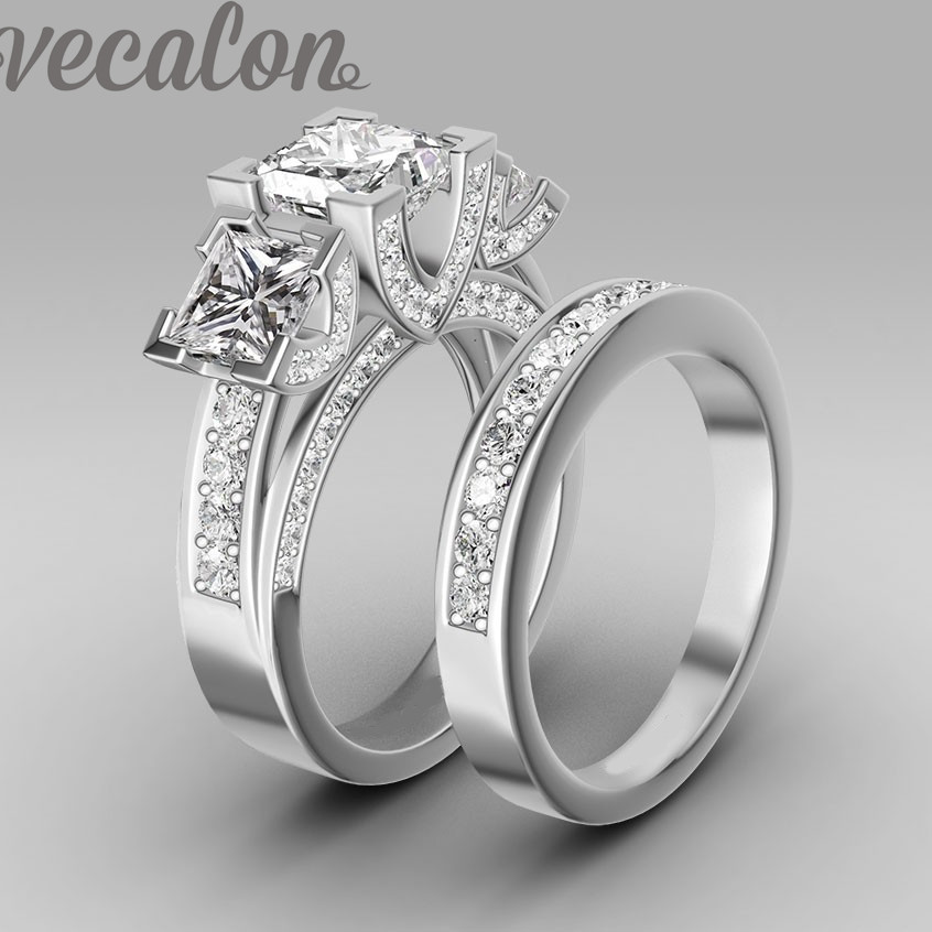 Vecalon Handmade Fashion Ring Wedding Band Ring For Women. Subtle Wedding Rings. Dome Wedding Rings. Radiant Diamond Wedding Rings. Sweet Wedding Rings. Gif Animation Wedding Rings. Textured Rings. Intricate Band Wedding Rings. Kid Girl Rings