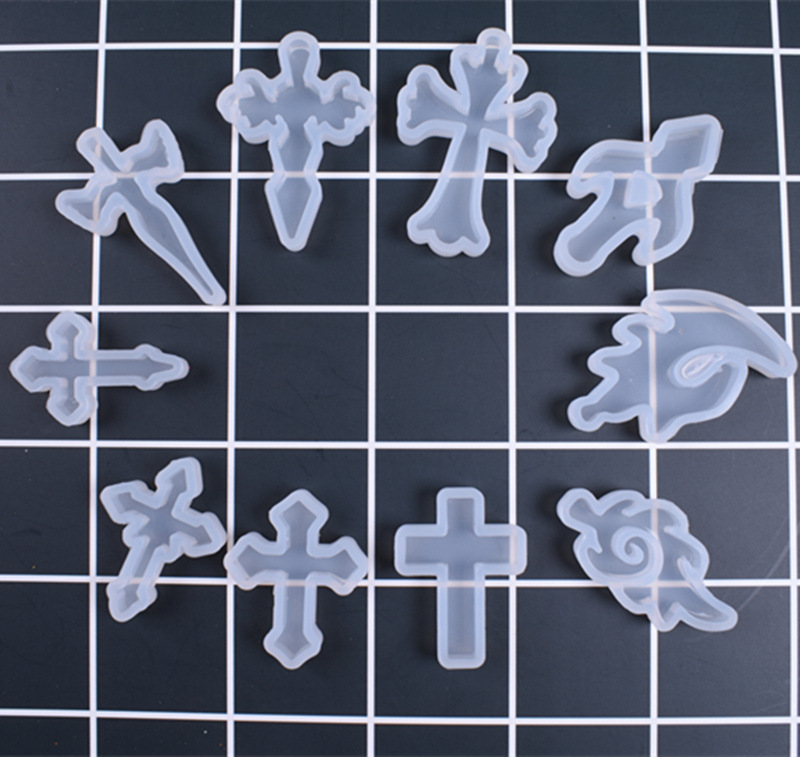 1PC Cross Liquid Silicone Expoxy Mold Resin Jewelry Mold UV Pendant Jewelry Accessories Handcraft Jewelry Tool