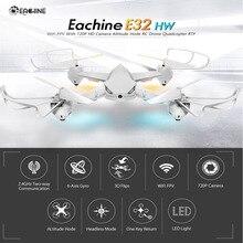 Eachine E32HW WiFi FPV Com 720 P HD Câmara de Altitude Hode Headless Modo RC Drone Quadcopter RTF Preto Branco VS MJX B6