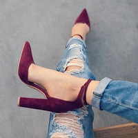 Fashion Shoes Woman 2107 New High Heels Ladies Pumps Sexy Thin Air Heels Footwear Woman Shoes